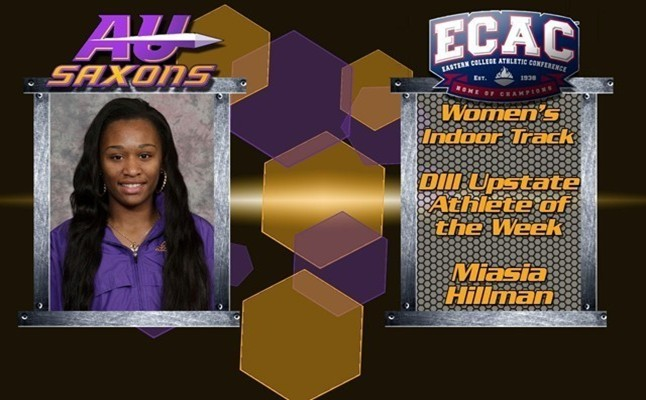 Miasia HIllman Weekly Honors ECAC